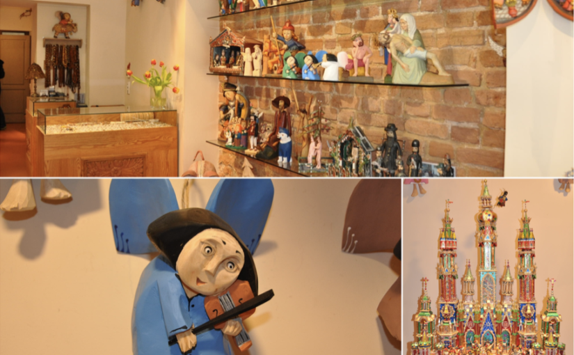 Drewniane ręcznie produkowane anioły oraz szopki bożonarodzeniowe doskonałe na upominek